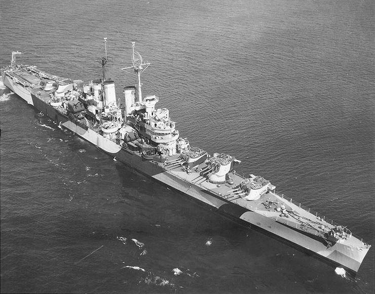 Picture of the USS St. Louis (CL-49).