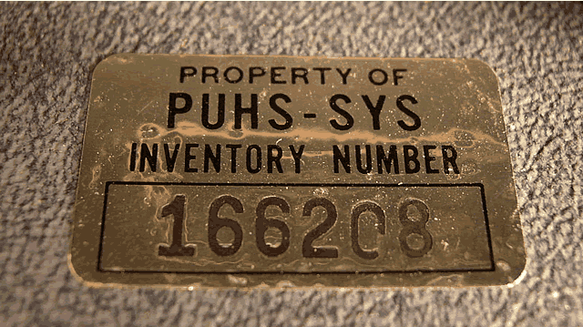 Property tag added by a previous owner.