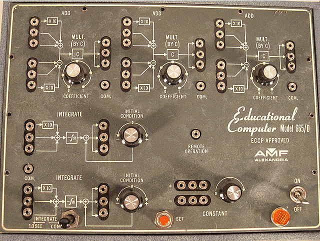 Closeup of the main panel.