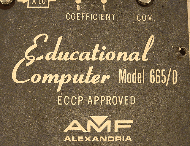 Close-up of the logo and model from the main panel.