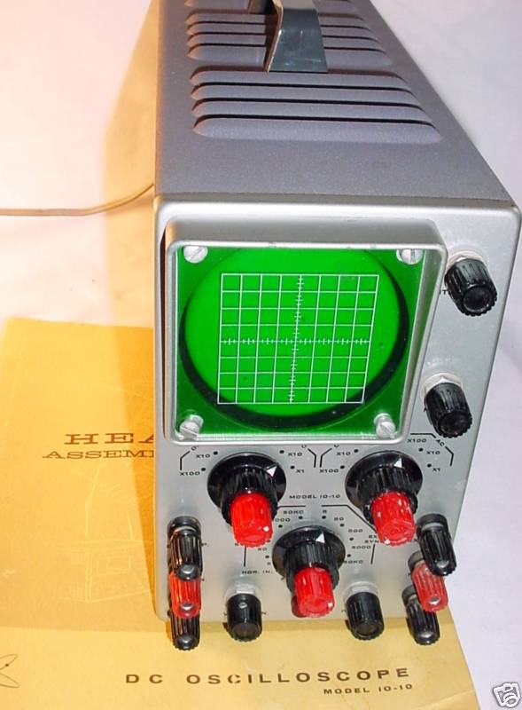 Front view of the oscilloscope.