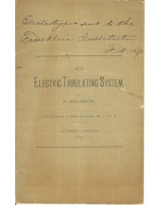 A view of the vintage An Electric Tabulating System; Author's Edition an important part of computer history