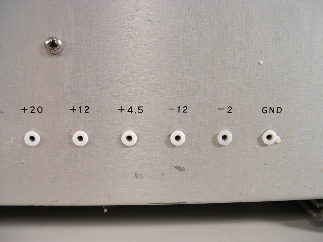 Voltage outputs.