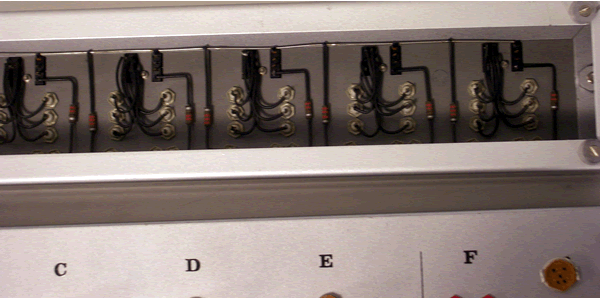 Underside of the relay control unit.