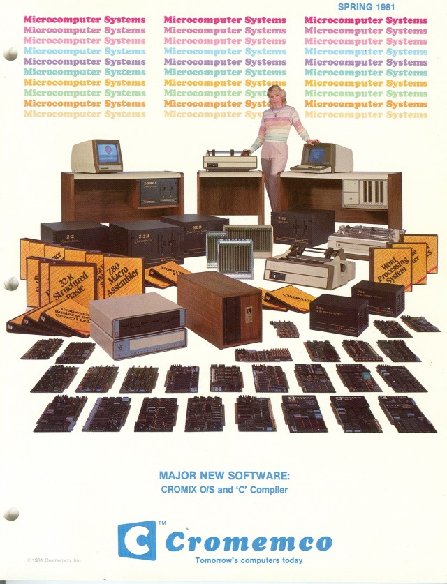 Cover of the Sping 1981 Cromemco catalog.