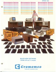 A view of the vintage Cromemco Spring 1981 Catalog an important part of computer history