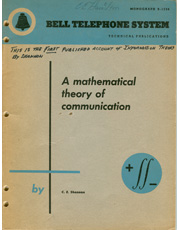 A view of the vintage A mathematical theory of communication an important part of computer history